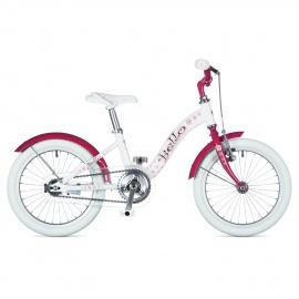 """Детский велосипед Author BELLO 16"""" 2015 бело-розовый с приставными колесами"""