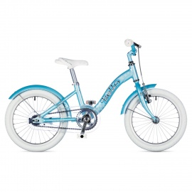 """Детский велосипед Author BELLO 16"""" 2015 бело-голубой с приставными колесами"""
