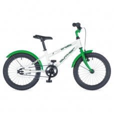 """Детский велосипед Author ORBIT 16"""" 2015 бело-зеленый с приставными колесами"""