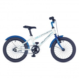 """Детский велосипед Author STYLO 16"""" 2016 бело-синий с приставными колесами"""