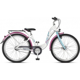 Двухколесный велосипед Puky Skyride 24-3 Alu Active light бело-бирюзовый