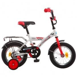 """Детский велосипед NovaTrack Astra 12"""" белый"""