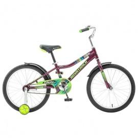 """Детский велосипед NovaTrack Cron 20"""" бордовый"""