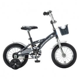 """Детский велосипед NovaTrack Delfi 12"""" серый"""