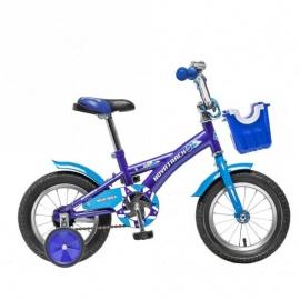 """Детский велосипед NovaTrack Delfi 12"""" синий"""
