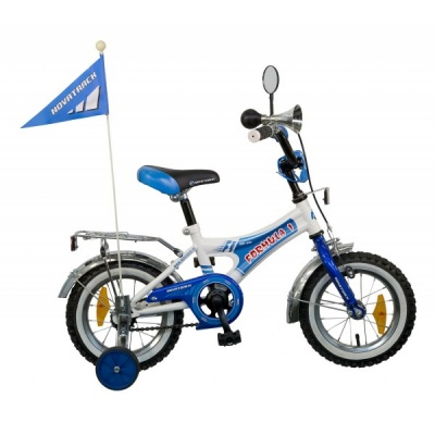 """Детский велосипед NovaTrack Формула 12"""" синий"""