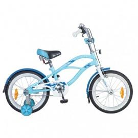 """Детский велосипед NovaTrack Круизер 16"""" голубой"""