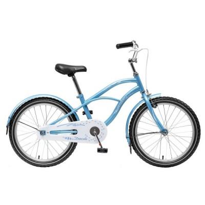 """Детский велосипед NovaTrack Круизер 20"""" голубой"""