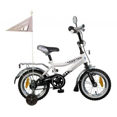 """Детский велосипед NovaTrack Такси 12"""" черно-белый"""