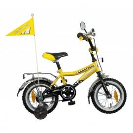 """Детский велосипед NovaTrack Такси 12"""" черно-желтый"""
