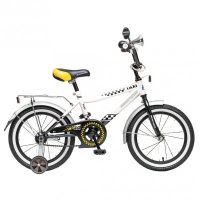 """Детский велосипед NovaTrack Такси 16"""" черно-белый"""
