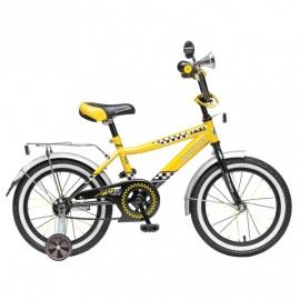 """Детский велосипед NovaTrack Такси 16"""" черно-желтый"""