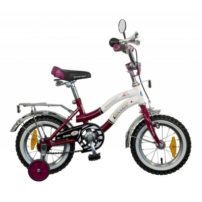 """Детский велосипед NovaTrack Зебра 12"""" бордовый"""