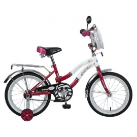 """Детский велосипед NovaTrack Зебра 16"""" бордовый"""