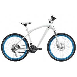 Велосипед BMW Cruise белый с синими колесами
