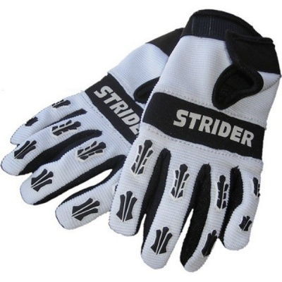 Велоперчатки Strider черно-белые