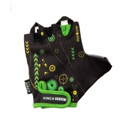 Велоперчатки VINCA SPORT Робокоп черные