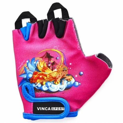 """Велоперчатки VINCA SPORT розовые """"Принцесса"""""""