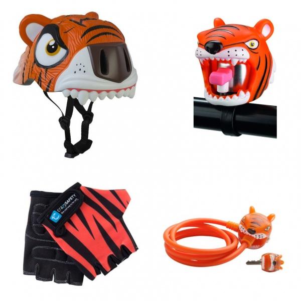 Шлем + аксессуары 4 в 1 Crazy Safety Тигр
