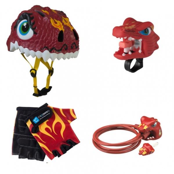 Шлем + аксессуары 4 в 1 Crazy Safety Дракон