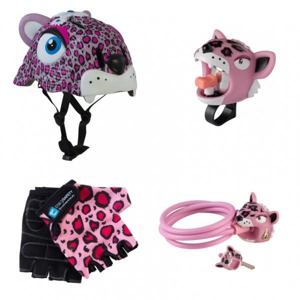 Шлем + аксессуары 4 в 1 Crazy Safety Леопард