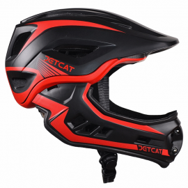Шлем детский FullFace Jet Cat Raptor (Black/Red, р.48-53 см)
