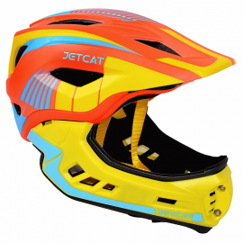 Шлем детский FullFace Jet Cat Raptor (Orange/Yellow/Blue, р.48-53 см)