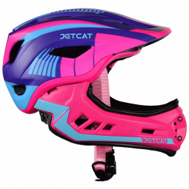 Шлем детский FullFace Jet Cat Raptor (Pink/Purple/Blue, р.48-53 см)