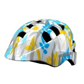 Шлем Runbike бело-голубой M