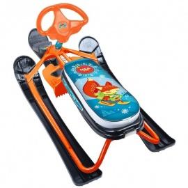 Снегокат Ника Детям Ника-кросс Лисенок Nika Kids оранжевый