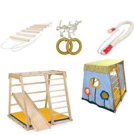 Детский спортивный комплекс ДСК Kidwood Домино + Стартовый набор аксессуаров