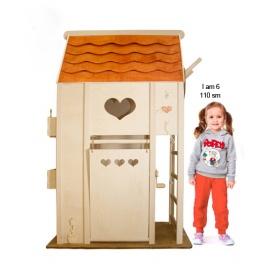 Детский спортивный комплекс MomSportToys Дом с Черепичной Крышей