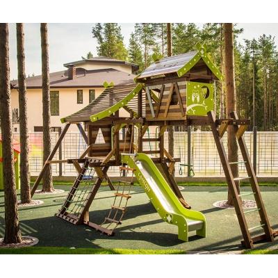 Детский спортивный комплекс-хижина для дачи Самсон Аквитания
