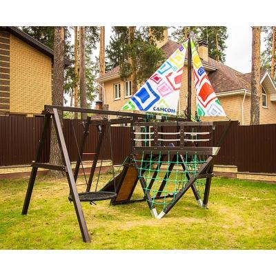Детский спортивный комплекс-корабль для дачи Самсон Фрегат