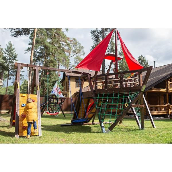 Детский спортивный комплекс-корабль для дачи Самсон Каравелла