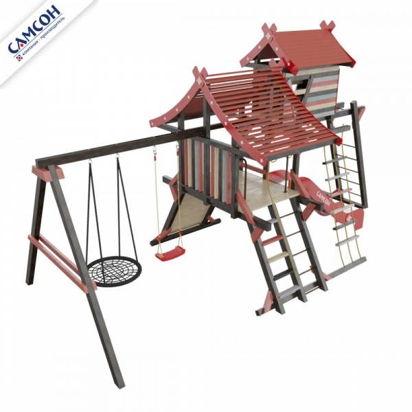 Детский спортивный комплекс-хижина для дачи Самсон Корсика