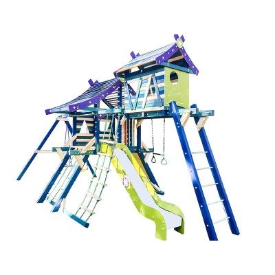 Детский спортивный комплекс-хижина для дачи Самсон Санторини