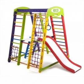Спорткомплекс напольный для малышей SportWood Акварелька Plus 2