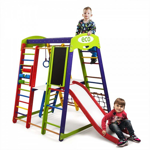 Детский спортивный комплекс напольный SportWood Акварелька Plus 3