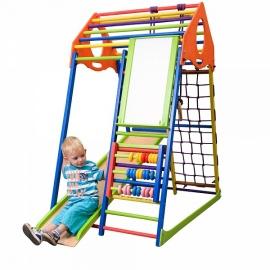 Детский спорткомплекс для малышей SportBaby KindWood Color Plus