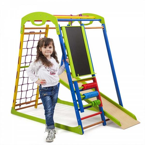 Детский напольный спорткомплекс для малышей SportWood Plus