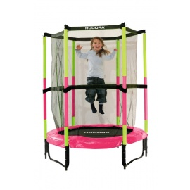Батут Hudora Safety trampoline Jump in 140 см розовый