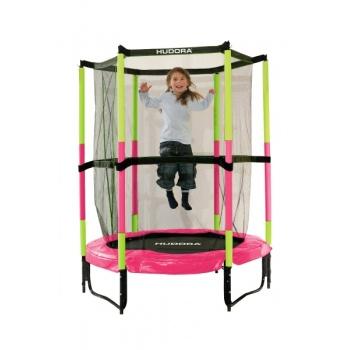 Батут Hudora Safety trampoline Jump in 140 см розовый
