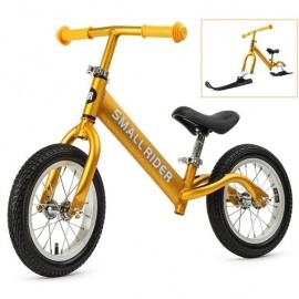 Беговел Small Rider Foot Racer Air с лыжами и колесами золотистый