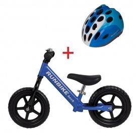 Беговел RUNBIKE Beck синий + шлем Runbike M