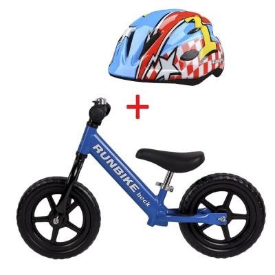 Беговел RUNBIKE Beck синий + шлем Runbike