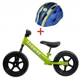 Беговел RUNBIKE Beck зеленый + шлем Runbike