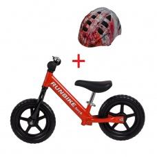 Беговел RUNBIKE Beck красный + шлем Runbike M