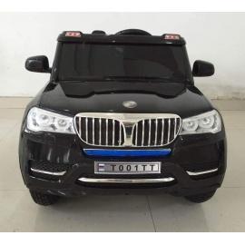 Электромобиль BMW T001TT чёрный с надувными колесами