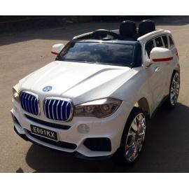Электромобиль BMW X5 E001КХ белый с дистанционным управлением